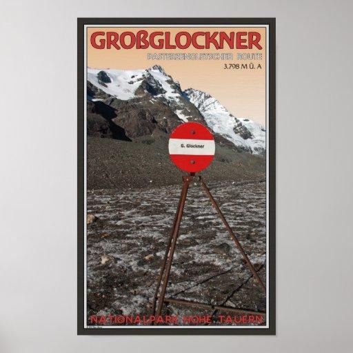 Ruta que sube de Großglockner Posters
