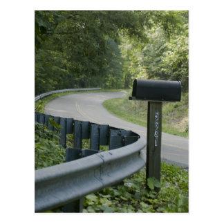 Ruta rural tarjeta postal