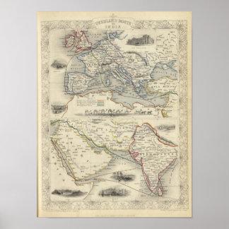 Ruta terrestre a la India Póster