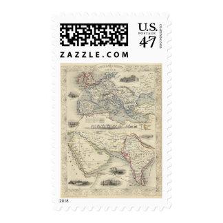 Ruta terrestre a la India Sellos Postales