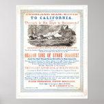 Ruta terrestre del correo a CA (1257A) - restaurad Posters