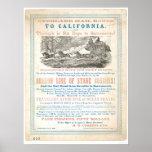 Ruta terrestre del correo a CA 1866 (1257A) - Unre Poster