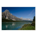 Ruta verde Alberta Canadá de Icefields de los lago Poster