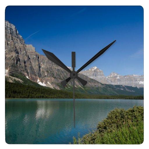 Ruta verde Alberta Canadá de Icefields de los lago Reloj Cuadrado
