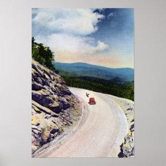 Ruta verde azul de Asheville Carolina del Norte Ri Poster