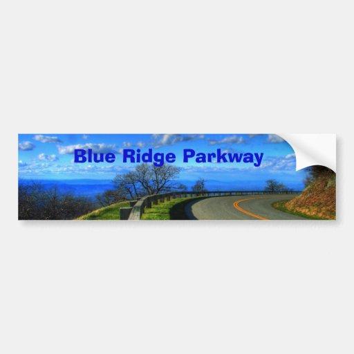 Ruta verde azul de Ridge Etiqueta De Parachoque