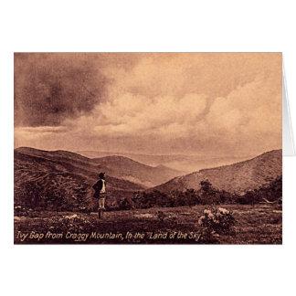 Ruta verde azul de Ridge, Carolina del Norte 1908 Tarjeta De Felicitación