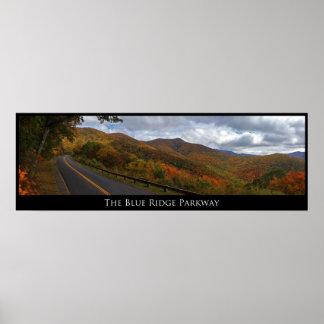 Ruta verde azul de Ridge en caída Posters