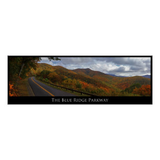 Ruta verde azul de Ridge en caída Poster