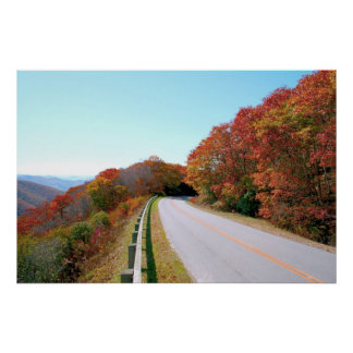 Ruta verde azul de Ridge Poster