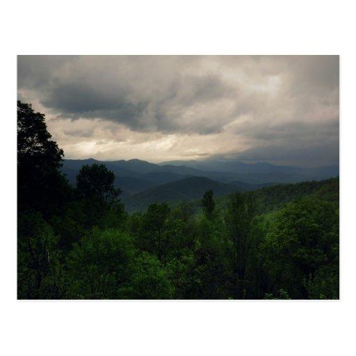 Ruta verde azul de Ridge, postal de Carolina del N