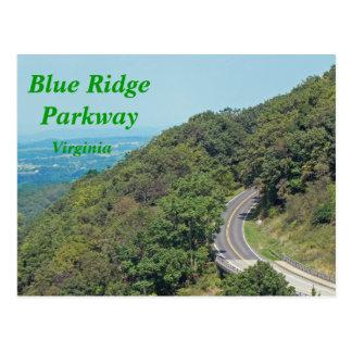 Ruta verde azul de Ridge - postal