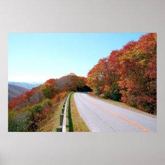 Ruta verde azul de Ridge Póster