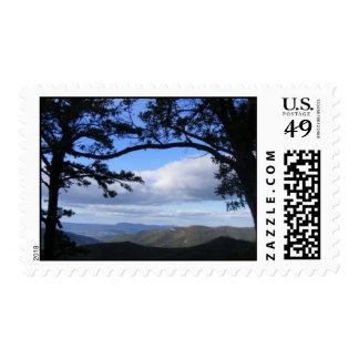 Ruta verde azul de Ridge Timbres Postales