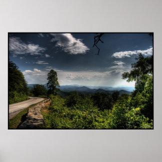 Ruta verde azul HDR de Ridge Posters