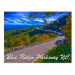 Ruta verde azul NC de Ridge Tarjeta Postal