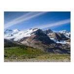 Ruta verde Columbia Icefield Alberta Canadá de Ice Tarjetas Postales