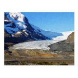 Ruta verde de Icefields en el jaspe Canadá Tarjetas Postales