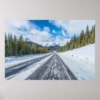 Ruta verde de Icefields Posters