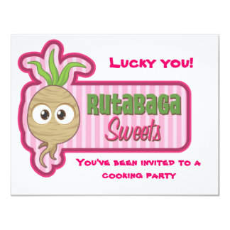 Rutabaga Sweets Cooking Party Invitation