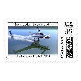 Rutan LongEz Timbre Postal
