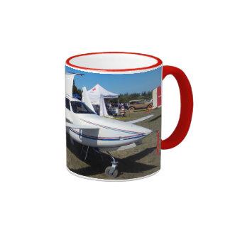 Rutan Pusher Airplane Ringer Coffee Mug