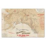 Rutas de la demostración del mapa de San Francisco Papel De Seda Pequeño