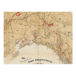 Rutas de la demostración del mapa de San Francisco Postales