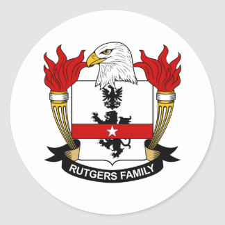 Rutgers Family Crest Classic Round Sticker