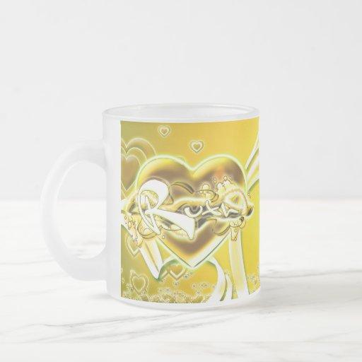 Ruth 10 Oz Frosted Glass Coffee Mug