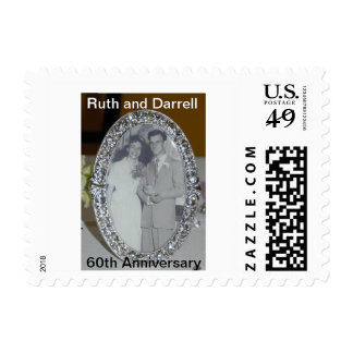 Ruth and Darrell 60th anniversary postage stamps
