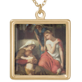 Ruth and Naomi, 1859 (oil on canvas) Gold Plated Necklace
