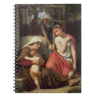 Ruth and Naomi, 1859 (oil on canvas) Spiral Notebook