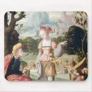 Ruth and Naomi in the field of Boaz, c.1530-40 Mouse Pad