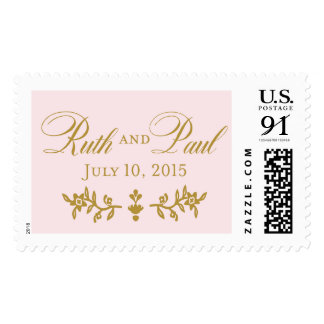 Ruth and Paul Vintage Flowers Postage