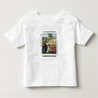 Ruth in the Field of Boaz, from a bible printed by Toddler T-shirt
