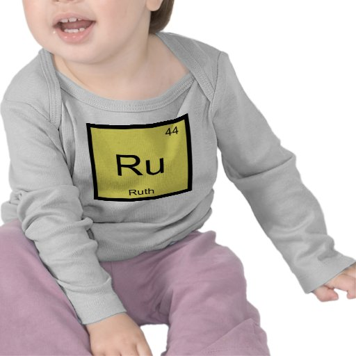 Ruth Name Chemistry Element Periodic Table T Shirts