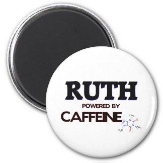 Ruth powered by caffeine refrigerator magnet