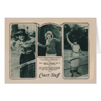Ruth Roland 1922 vintage portrait card tennis