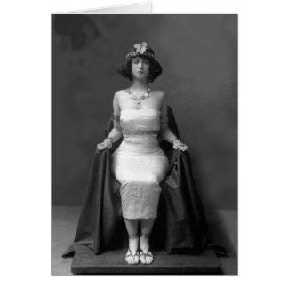 Ruth St Denis en el traje egipcio 1904 Tarjeta