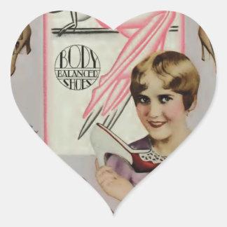 Ruth Taylor Sandals Advertisement 1928 Heart Sticker