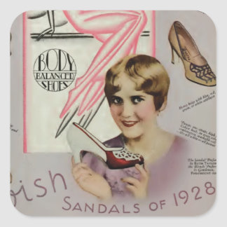 Ruth Taylor Sandals Advertisement 1928 Square Sticker