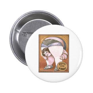 Ruth the Acrobat Pinback Button