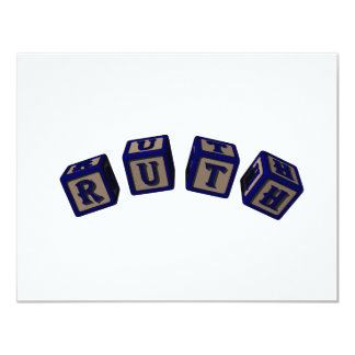 Ruth toy blocks in blue card