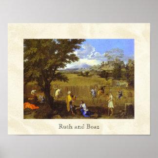 """""""Ruth y Boaz"""" por Nicolás Poussin circa 1660 Póster"""
