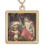 Ruth y Naomi, 1859 (aceite en lona) Colgante