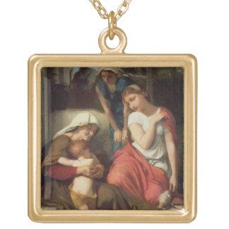 Ruth y Naomi, 1859 (aceite en lona) Colgante Cuadrado