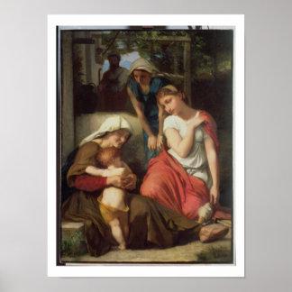 Ruth y Naomi, 1859 (aceite en lona) Posters