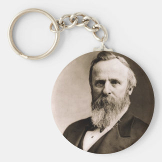 Rutherford B. Hayes 19 Basic Round Button Keychain