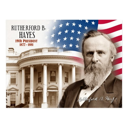 Rutherford B. Hayes -  19th President of the U.S. Postcard